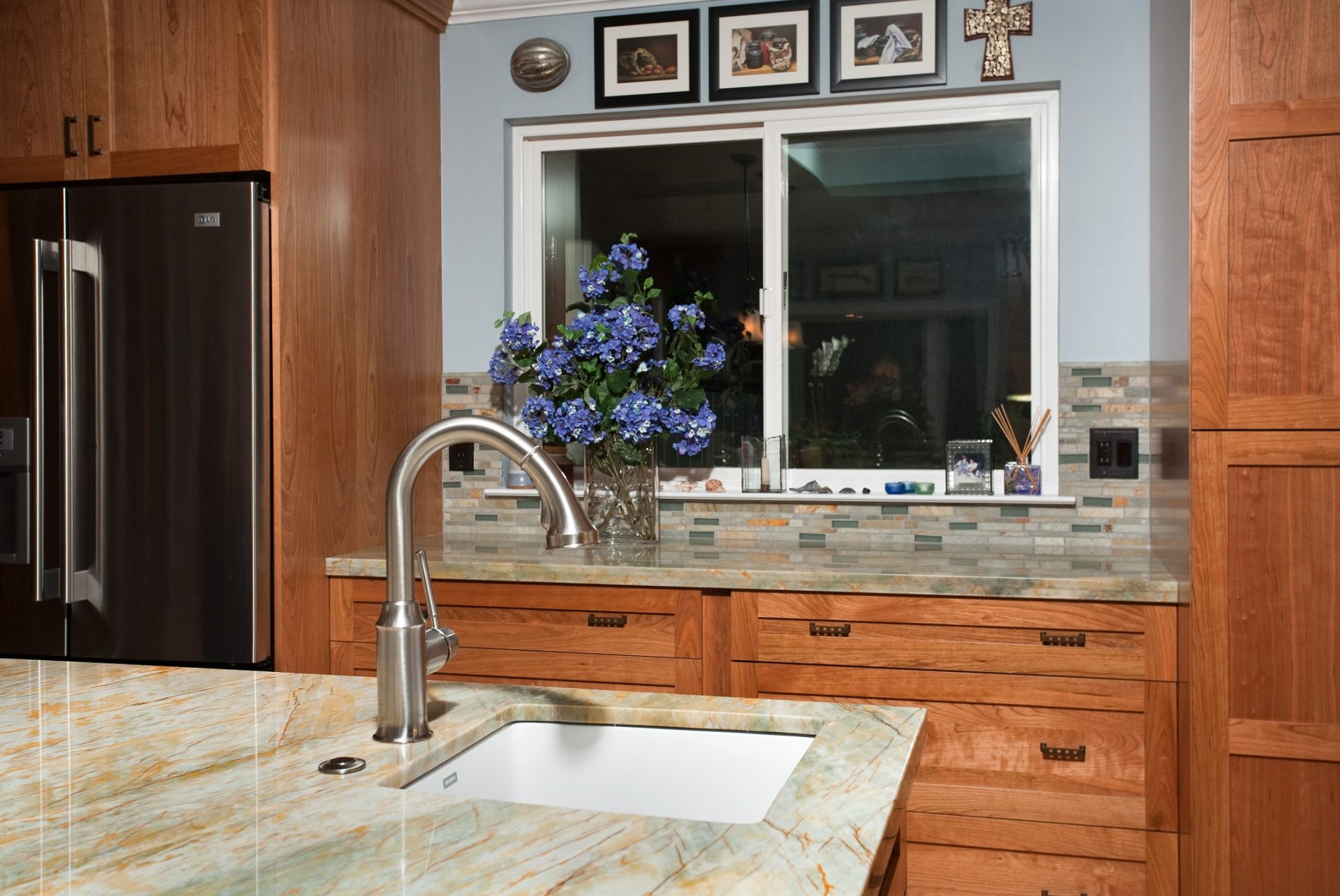 kitchen island with prep sink faucet pull out sunnyvale ok valley home builders
