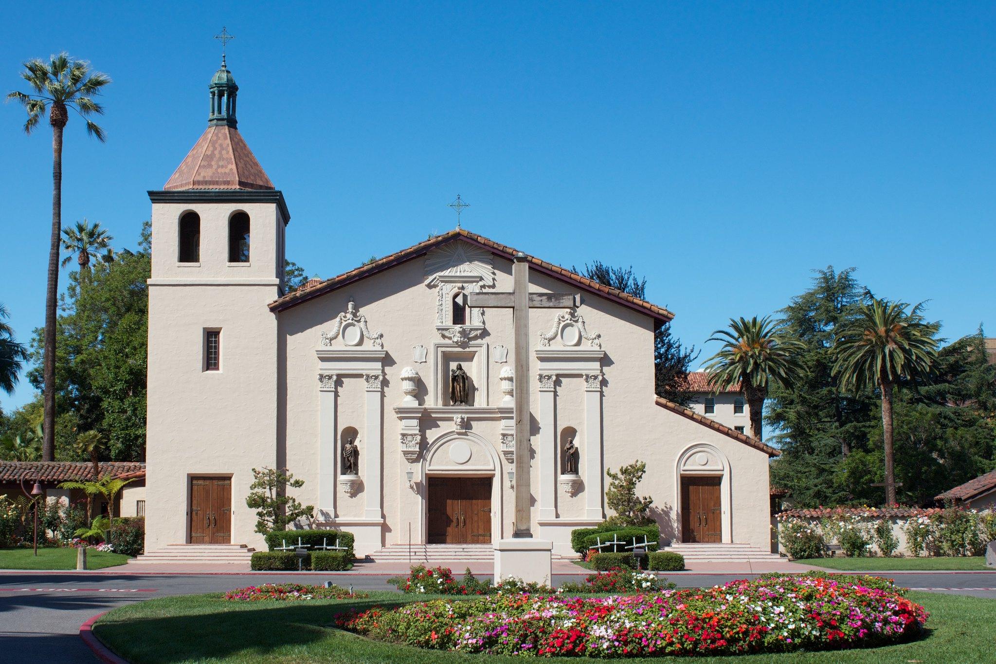 Mission church in Santa Clara California