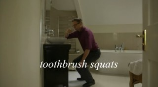 toothbrush squats