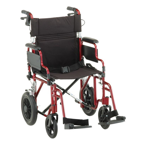 transport wheelchair nova art van dining chairs 19 inch chair with 12 rear wheels valley medical