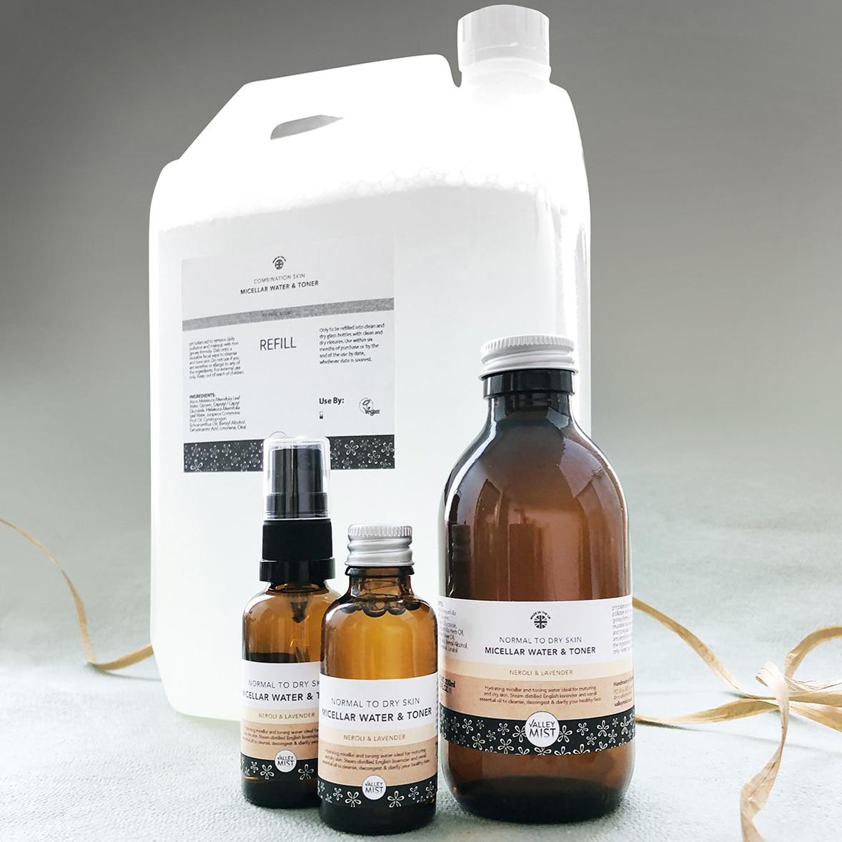 refill micellar water and toner