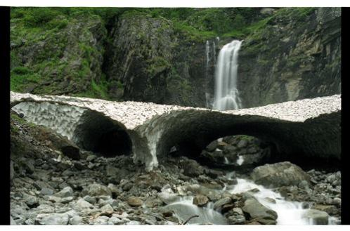 Beautiful waterfall near village Ghangaria