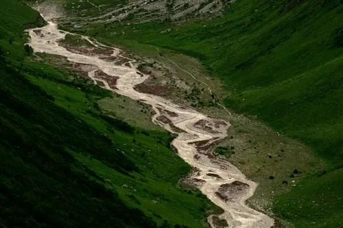 Bird eye view of Pushpawati River bed