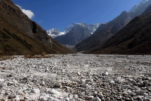 Puchpawati river and Tipra Glacier in October