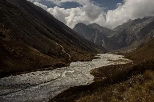 Pushpawati river bed in October