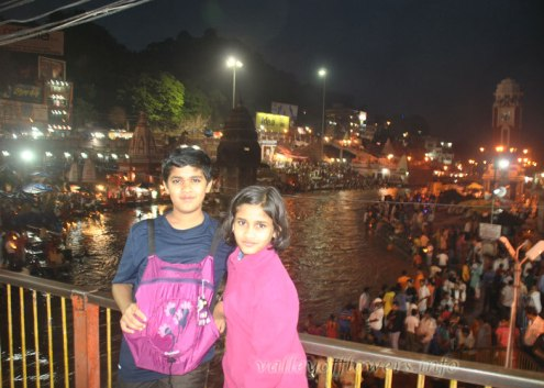 Me and My sister on Ganga Ghat for Aarti