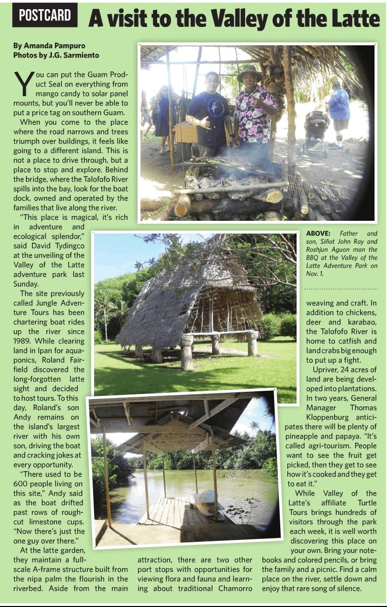 The Guam Daily Post Card - Guam's Valley of the Latte Adventure Park