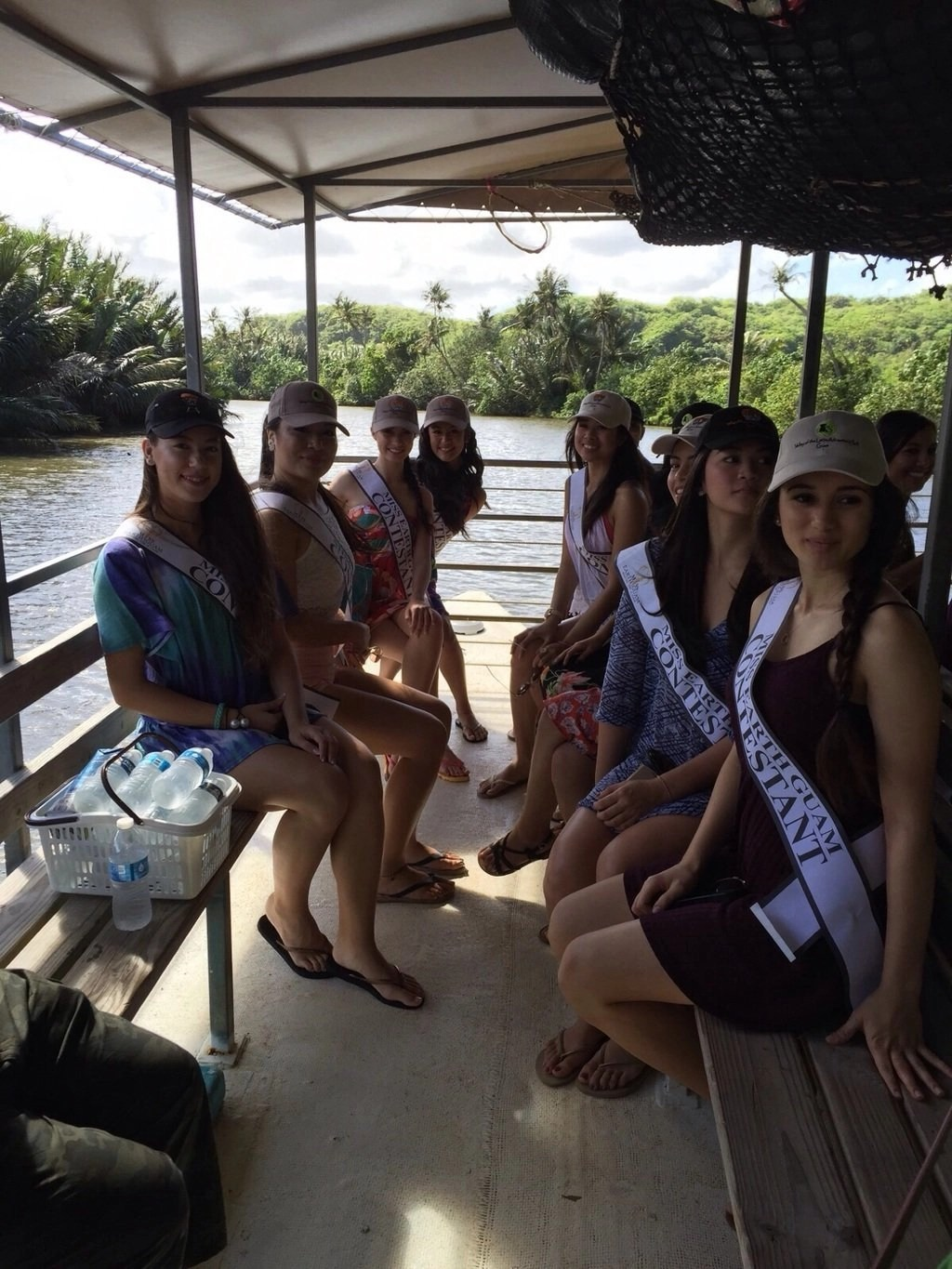 2016 Miss Earth Guam Contestants at the Valley of the Latte Adventure Park Guam