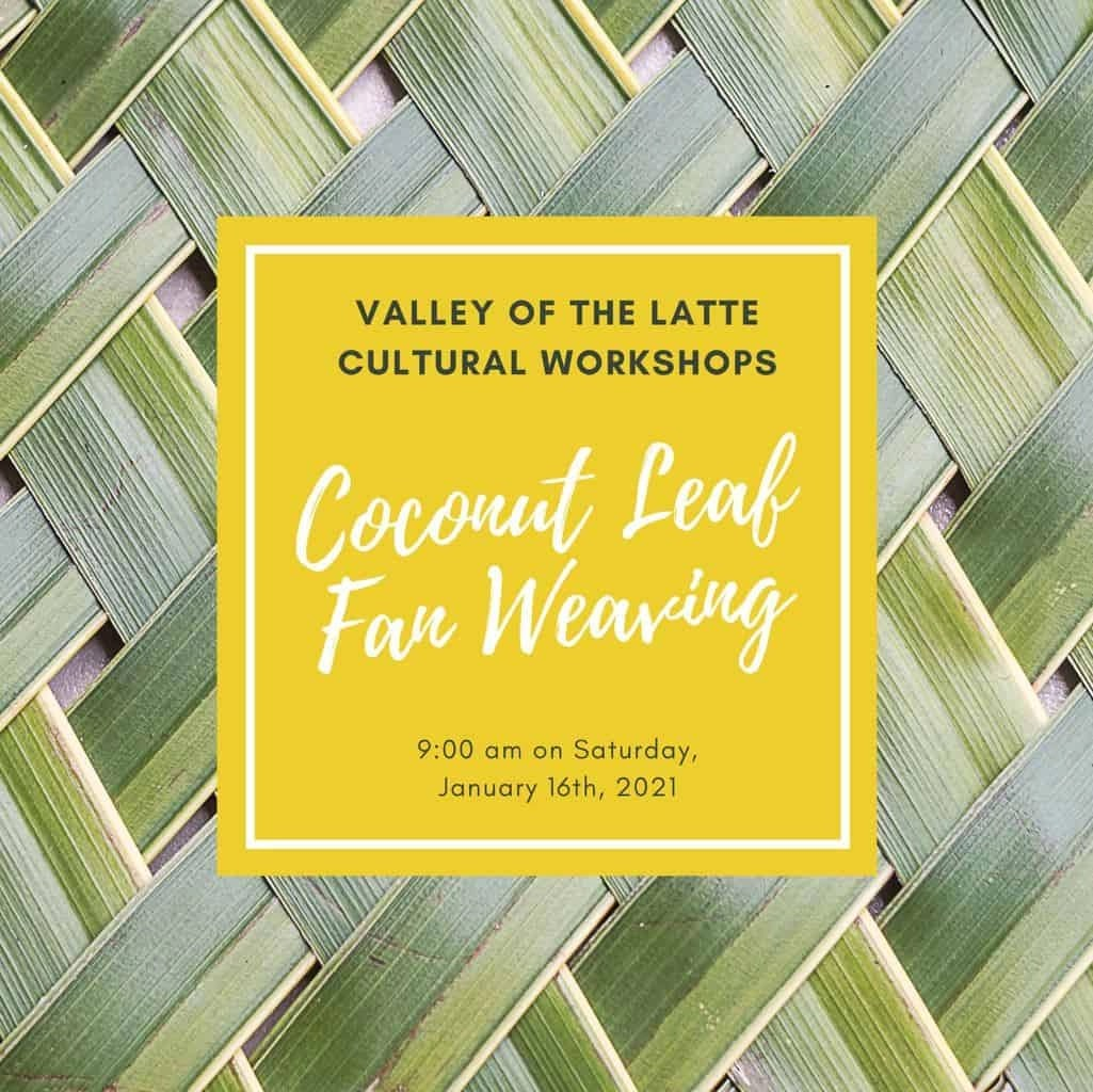 Coconut Leaf Fan Weaving Cultural Workshop January 16th