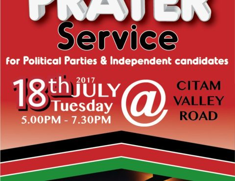 Special Prayer service for political parties and independent candidates