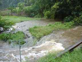Our creek, breaking its banks
