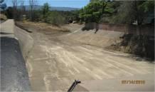 After: Westmont Detention Basin after sediment removal.