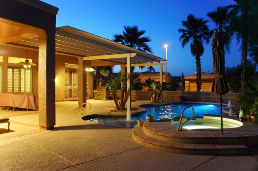 Night patio and spa picture