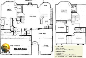 Image of Warner Ranch Tempe floor plans: model Windsor 565