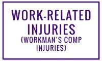 Work-Related Injuries (Workman's Comp Claims) - Wounds treated at Valley Wound Care Specialists