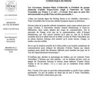 Le communiqué très con d'un pro-Valls (Luc Carvounas) contre Montebourg et Varoufakis...