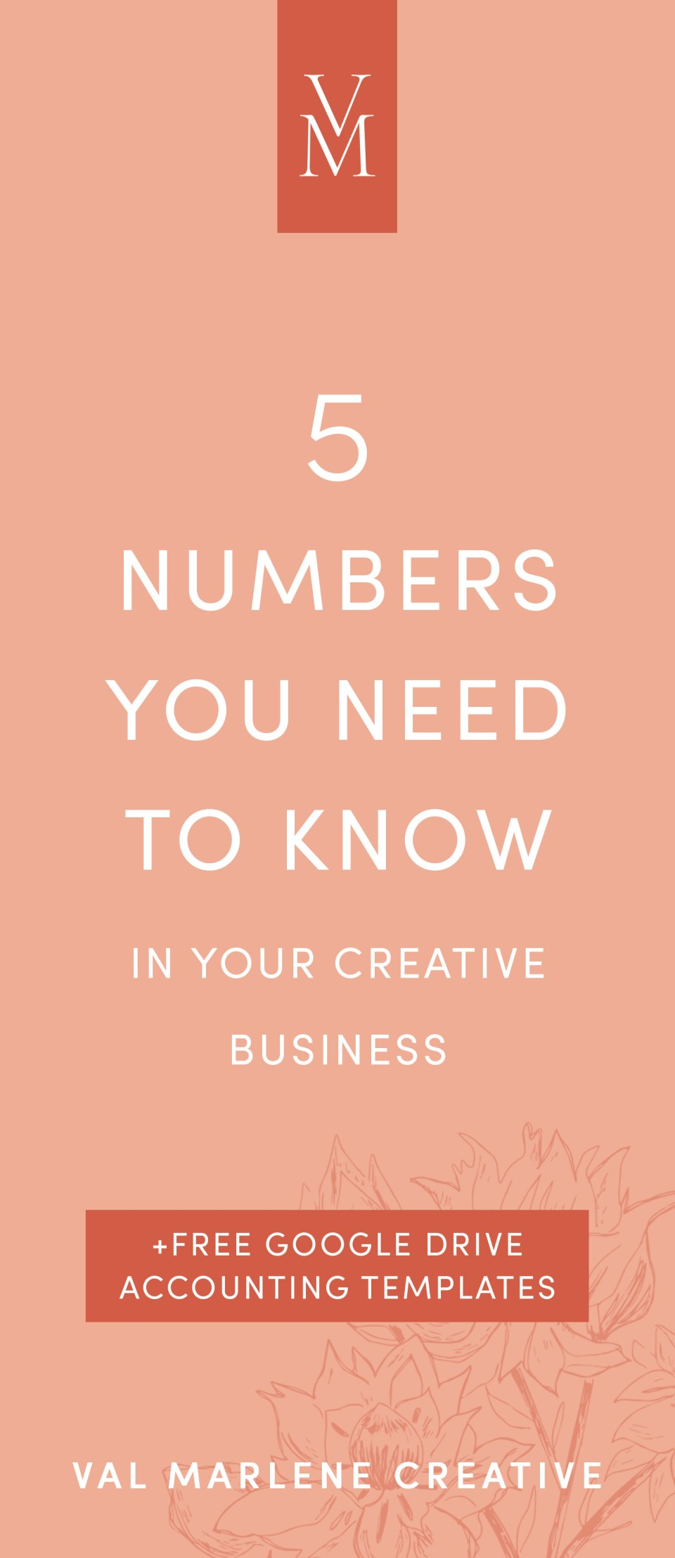 The numbers you need to know in your creative business + free accounting templates. Creative business finances