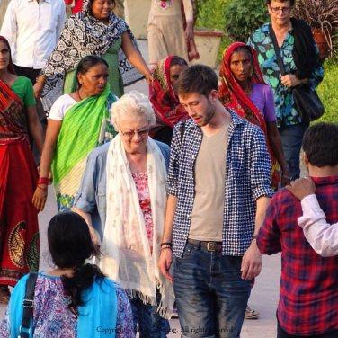My mother and my son at Bara Imambara Bara Imamba, Lucknowra