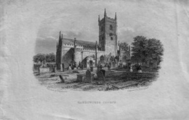 Handsworth Church. Pre 1876