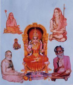 Adi Shankaracharya, Sri Mahaperiyava, Sri Govinda Damodara Swamigal, Sri Sivan Sir, Srikamakshi, Sri Parameswara