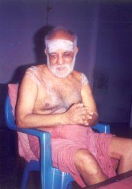 Swamigal accepting a namaskaram