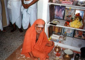 Swamigal listening to music