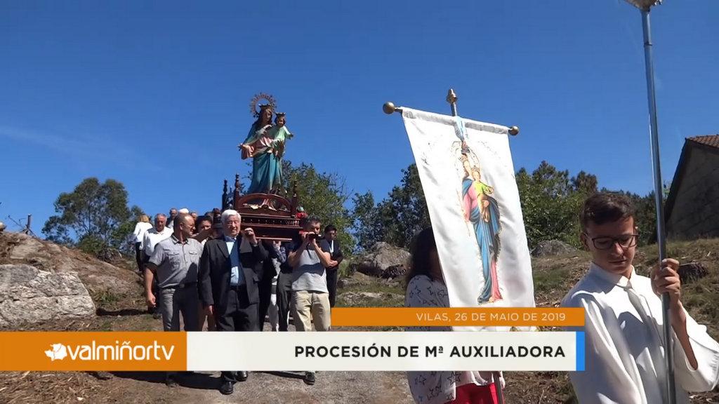 PROCESIÓN DE Mª AUXILIADORA EN VILAS