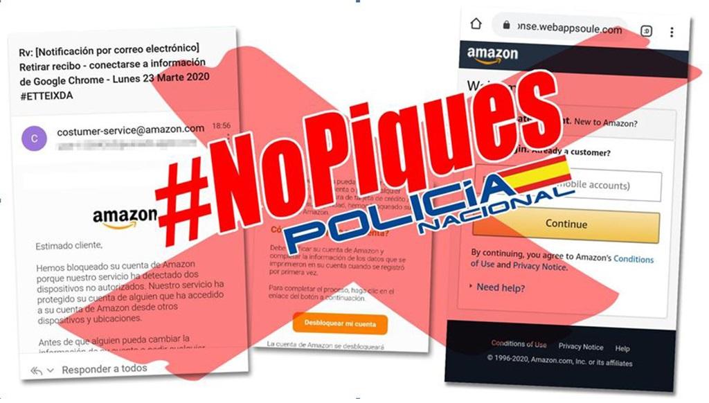 A Policía Nacional alerta dunha tentativa viral de fraude a través de phishing