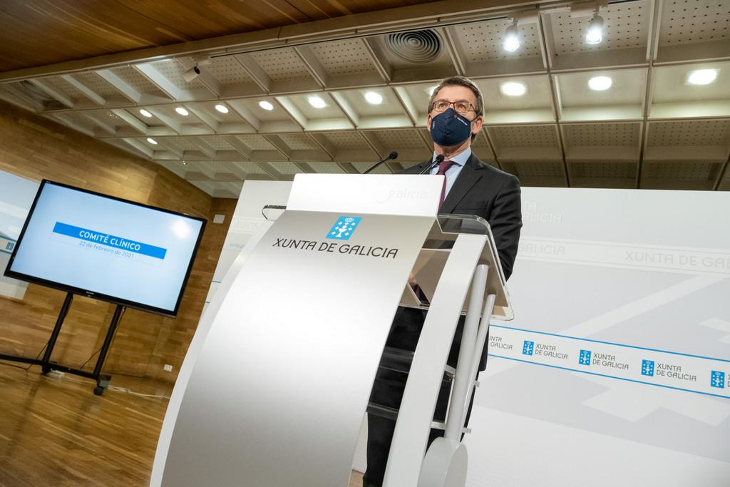 O titular do Goberno galego na rolda de prensa posterior ao comité clínico de expertos sanitarios