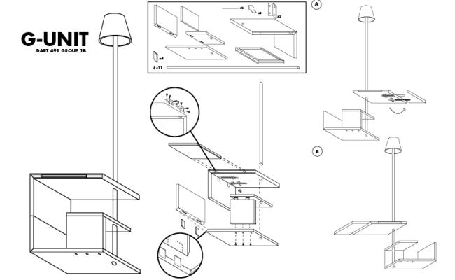 Furniture Assembly Manual Dart 491 1b G Unit