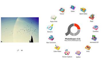 Photoscape kuvankäsittelyä