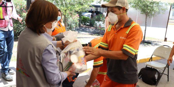 Veolia y Guadalupe entregan apoyo alimentario a recolectores de basura
