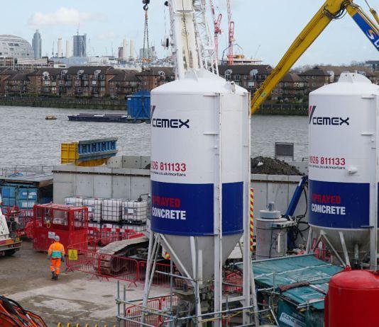 Cemex, concreto sostenible en el Thames Tideway