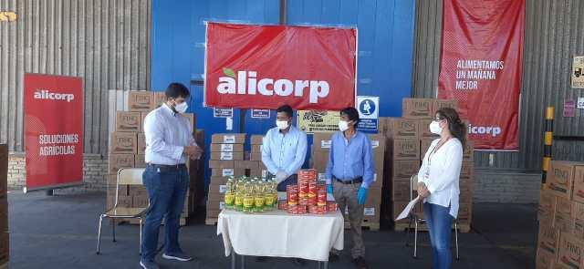 Alicorp entregó donaciones a damnificados por la lluvia.