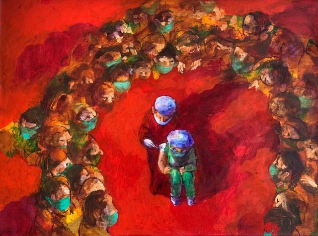 """""""Esperanza"""", es la obra principal de Cuadros Virales, la exposición de Ejti Stih que estará en Paseo Aranjuez desde el 6 de abril al 7 de mayo de 2021"""