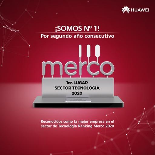Huawei obtiene por segundo año consecutivo el primer lugar en la categoría Tecnología en el ranking Merco.