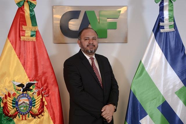 Florentino Fernández es el nuevo representante de CAF en Bolivia.