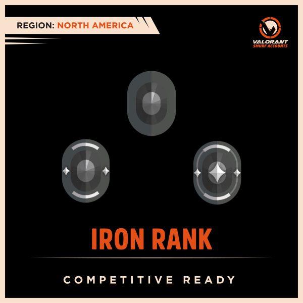 NA Valorant Iron Rank Accounts