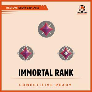 SEA Valorant Immortal rank Account for sale