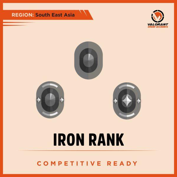 SEA Valorant Iron rank Account for sale