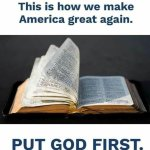 The First Commandment is about maintaining freedom and prosperity
