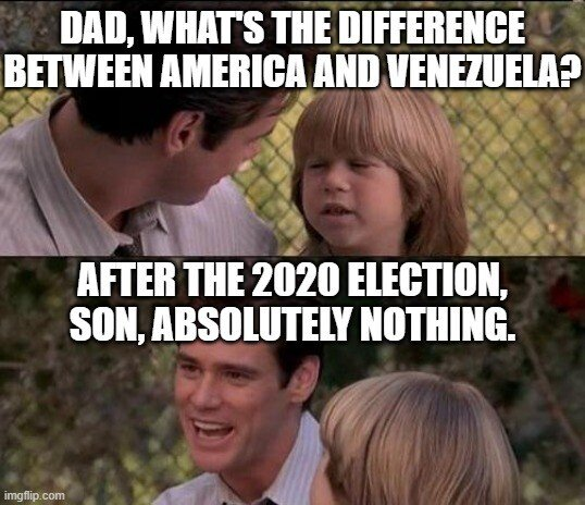 difference between America and Venezuela after 2020 Election absolutely nothing