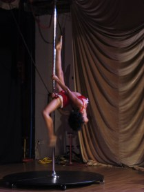 Candace on the pole
