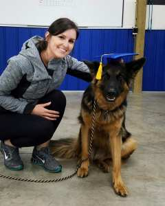 Service dog training graduation