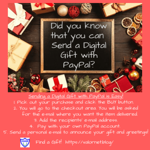 Did you know that you can Digital Send a Gift with Paypal? Picture