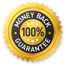 100%Money Back Guarantee, icon