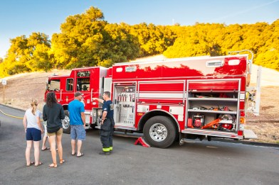 The Dry Creek fire department stopping by