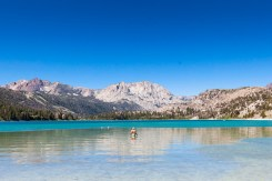 Day Four: Morning swim at picturesque June Lake