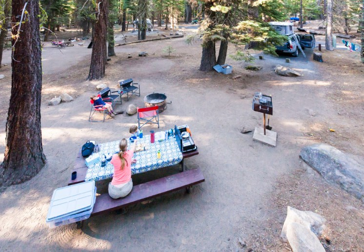 Day Ten: Our campground next to the American River