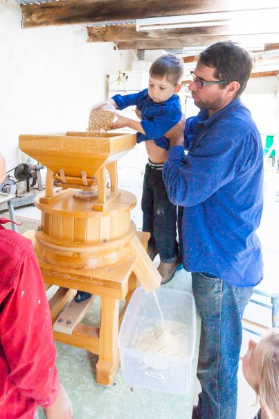 Milling flour for a pasta dinner
